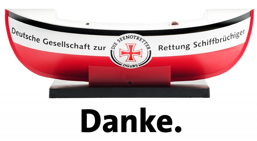 Der Verlag und der Autor unterstützen die Deutsche Gesellschaft zur Rettung Schiffbrüchiger (Foto: Donat-Verlag)