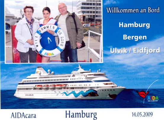 Unsere Reise ging los.